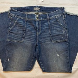 Torrid Mid Rise Flare Jeans Blue Size 18